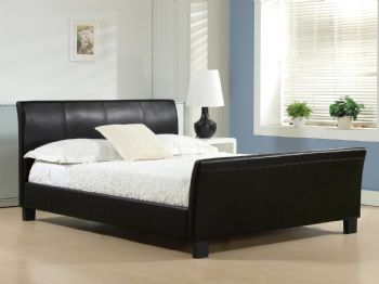 Celine Faux Leather Bed in Black or Brown Colours